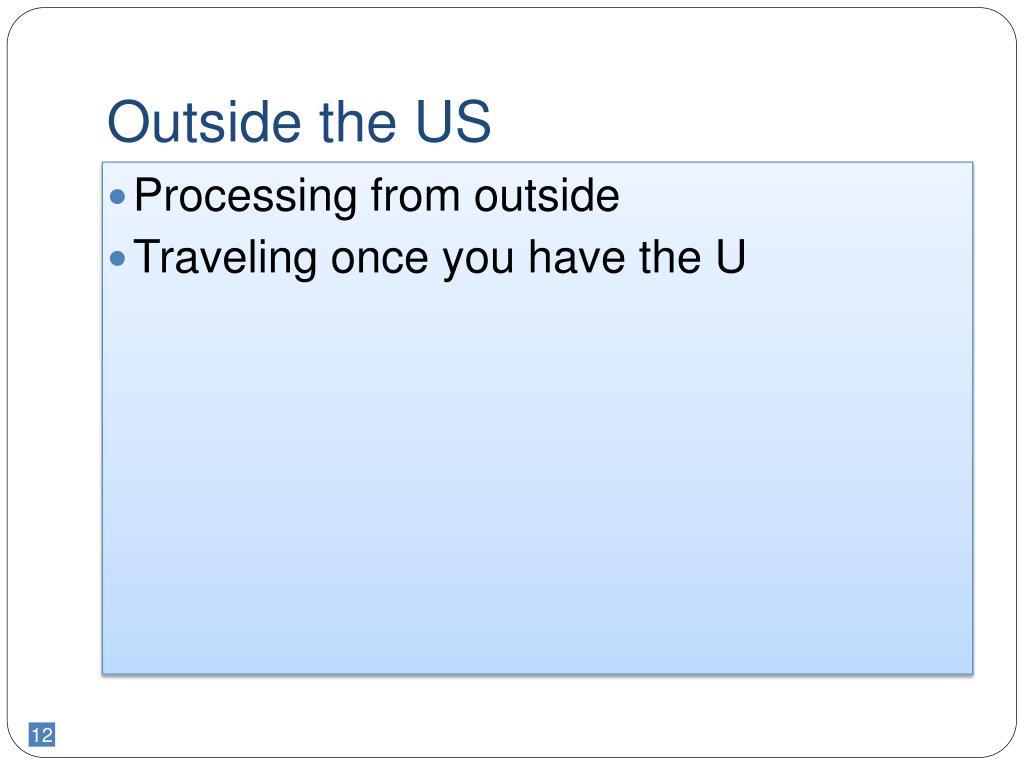 Outside the US
