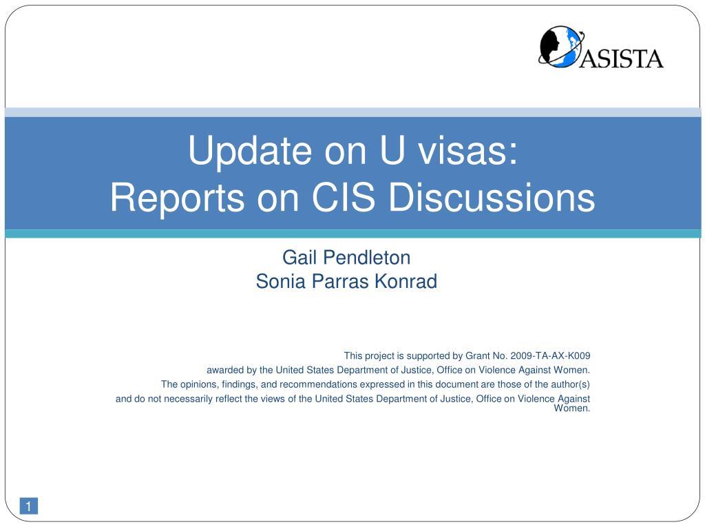 Update on U visas: