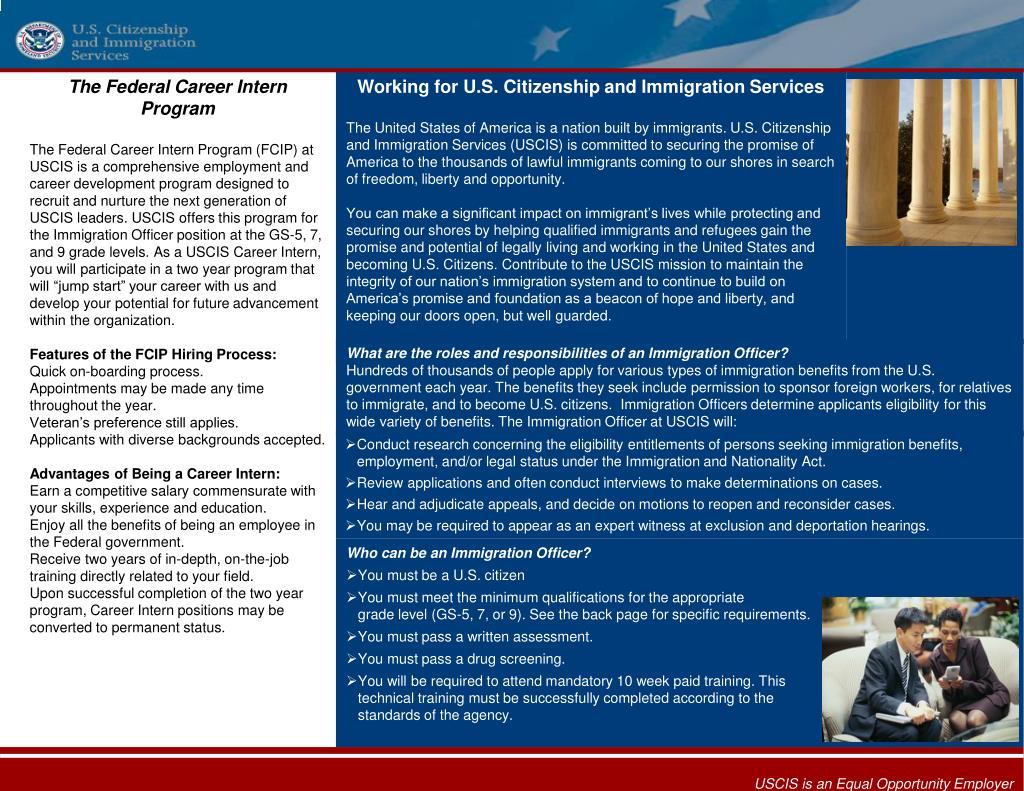 The Federal Career Intern Program