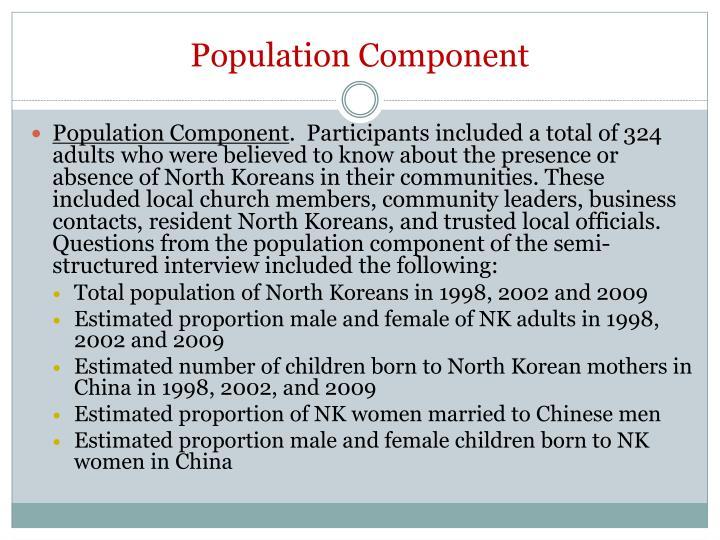 Population Component