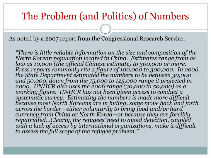 The Problem (and Politics) of Numbers