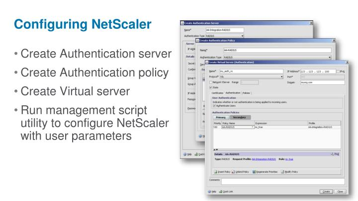 Configuring NetScaler