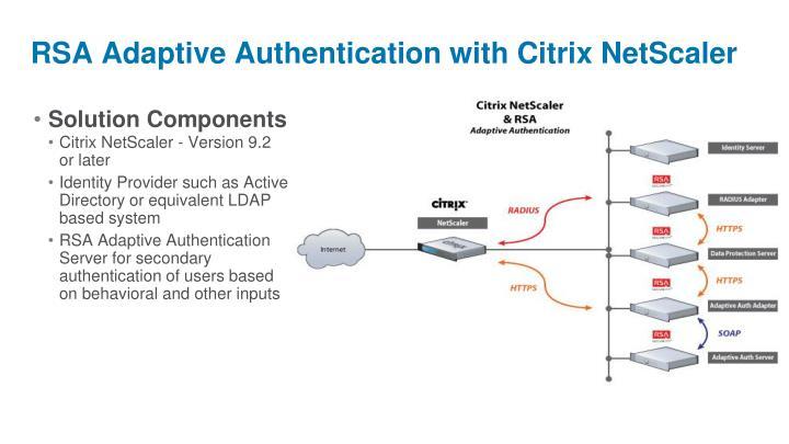 RSA Adaptive Authentication with Citrix NetScaler