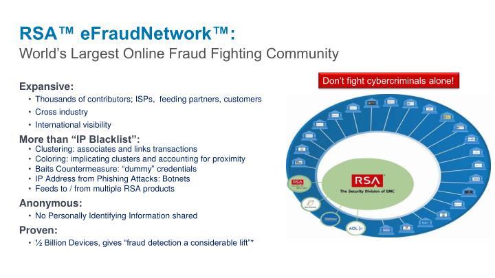 RSA™ eFraudNetwork™: