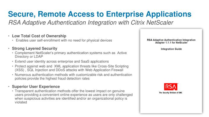 Secure, Remote Access to Enterprise Applications