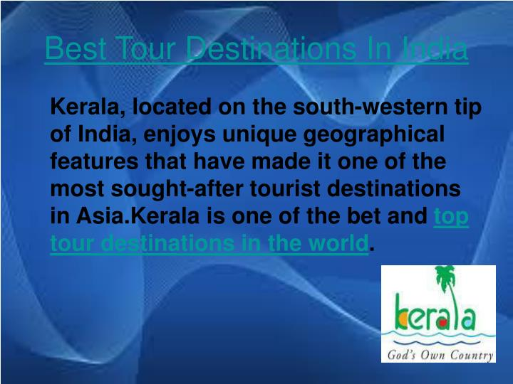 Best tour destinations in india