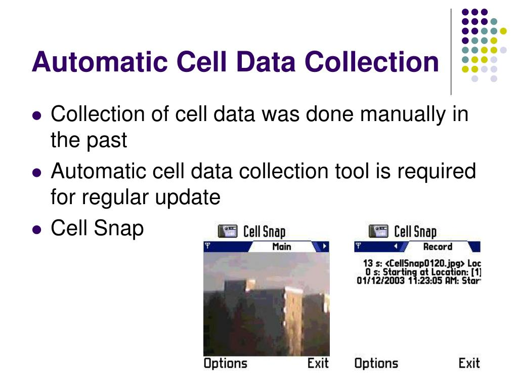 Automatic Cell Data Collection