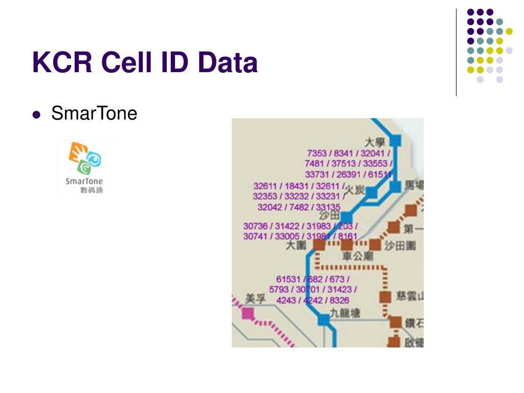 KCR Cell ID Data