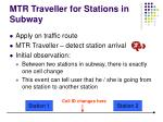 mtr traveller for stations in subway