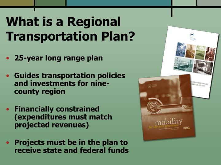 What is a regional transportation plan