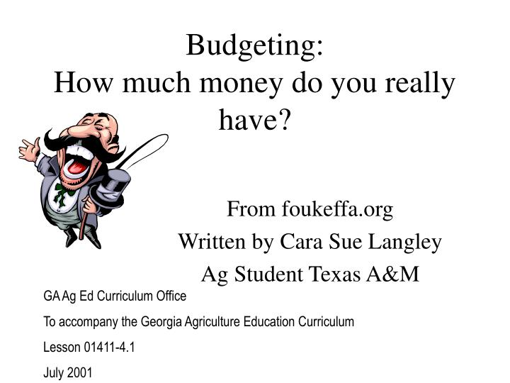 Budgeting how much money do you really have