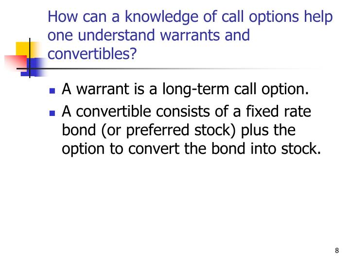 problems on warrants and convertibles