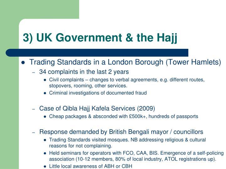 3) UK Government & the Hajj