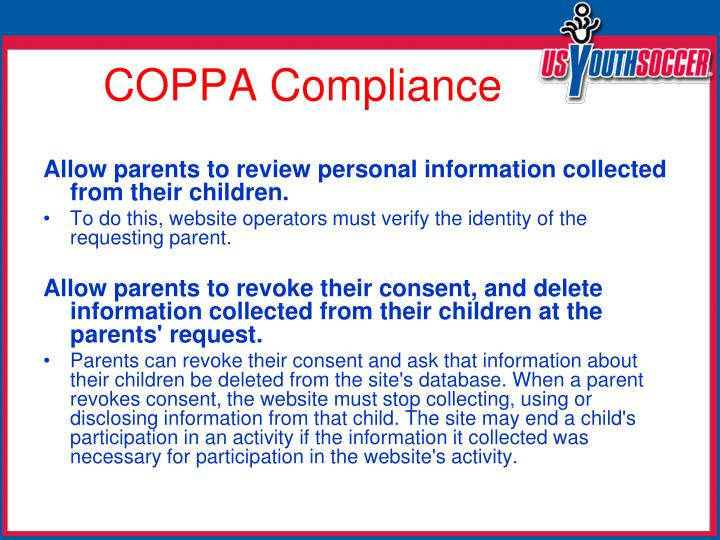 Allow parents to review personal information collected from their children.