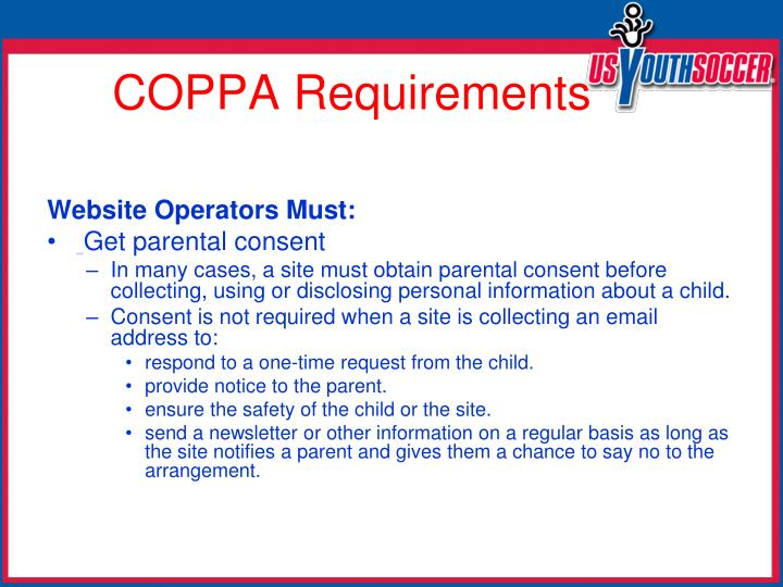 Website Operators Must: