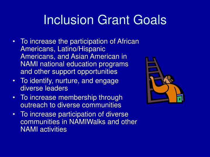 Inclusion Grant Goals