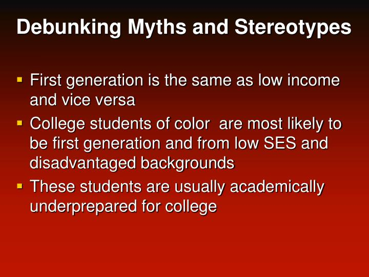 Debunking Myths and Stereotypes
