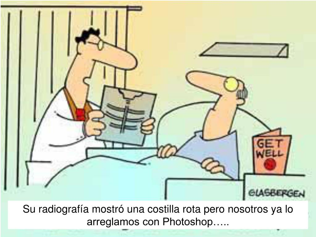 Su radiografía mostr
