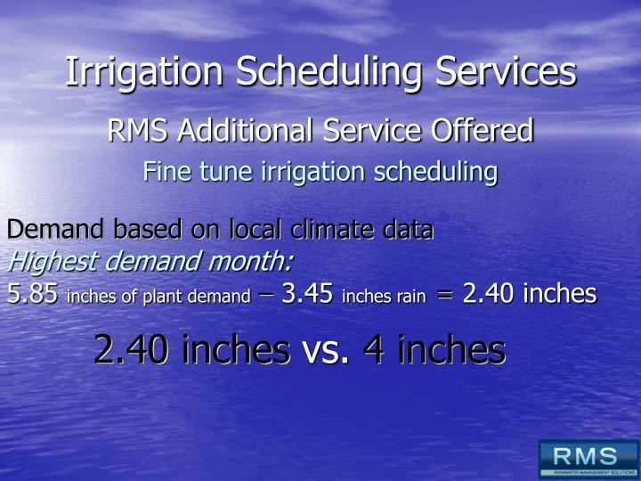 Irrigation Scheduling Services
