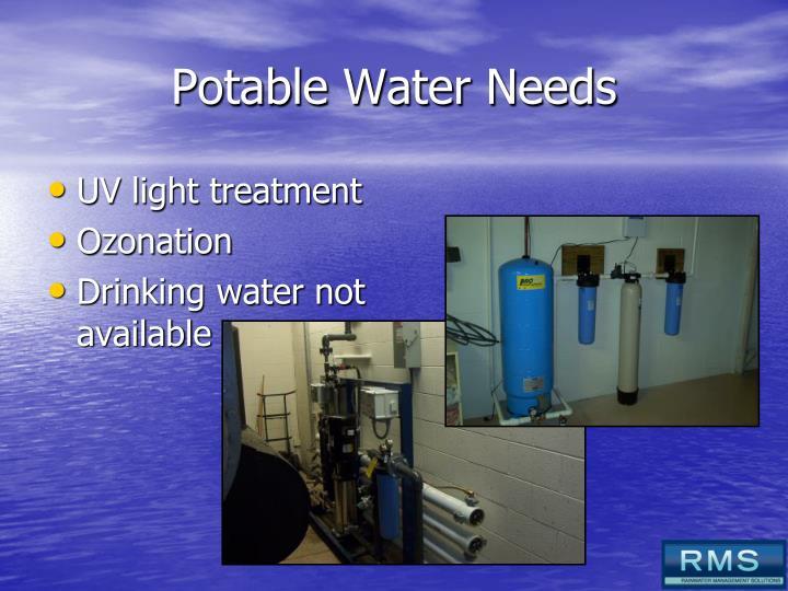 Potable Water Needs