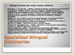 specialised bilingual dictionaries