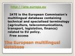 the european multilingual database