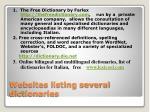 websites listing several dictionaries