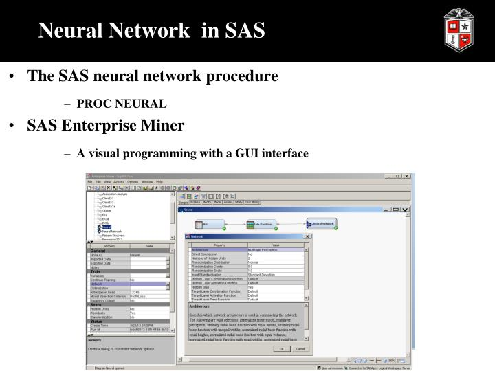 Neural Network  in SAS
