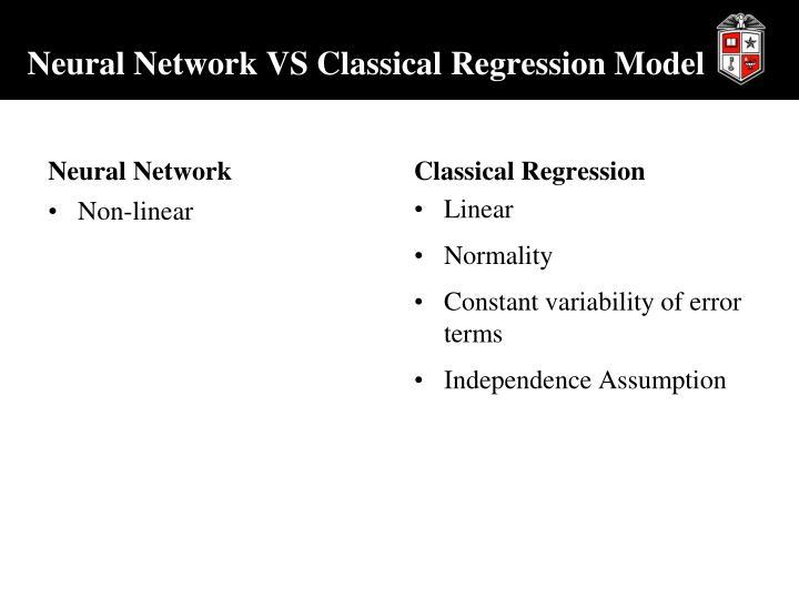 Neural Network VS Classical Regression Model