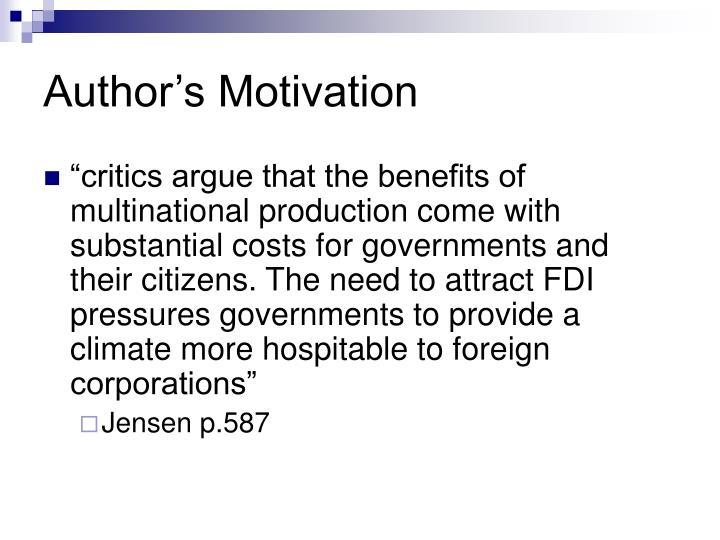 Author's Motivation