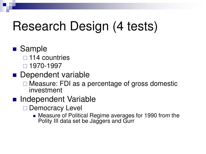 Research Design (4 tests)