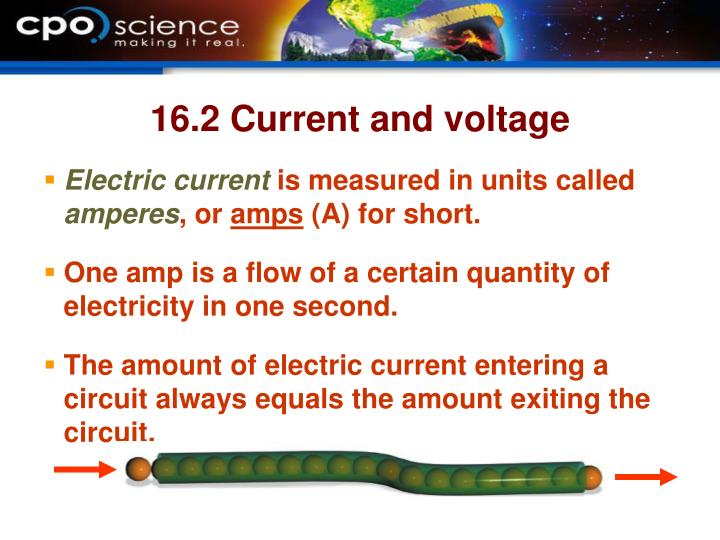 16.2 Current and voltage
