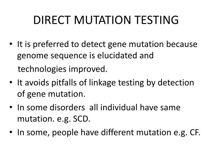 DIRECT MUTATION TESTING
