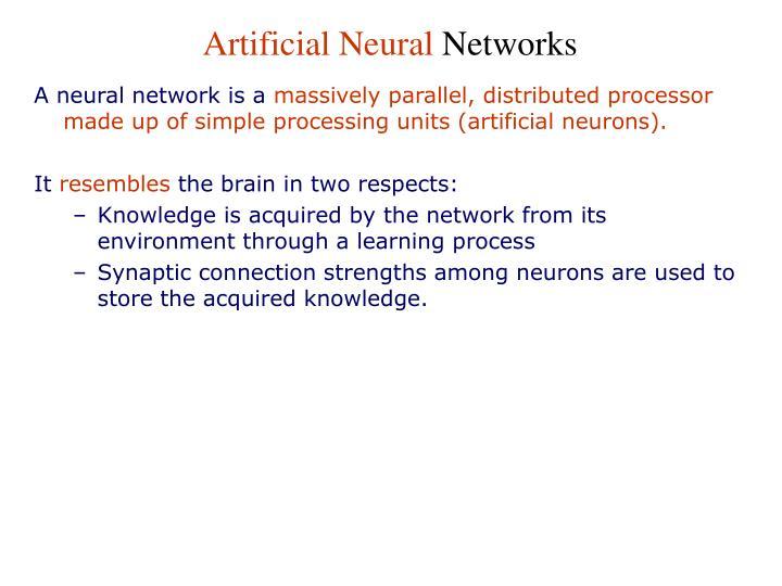 Artificial Neural