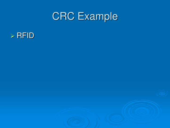 CRC Example
