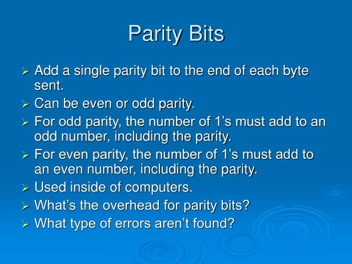 Parity Bits