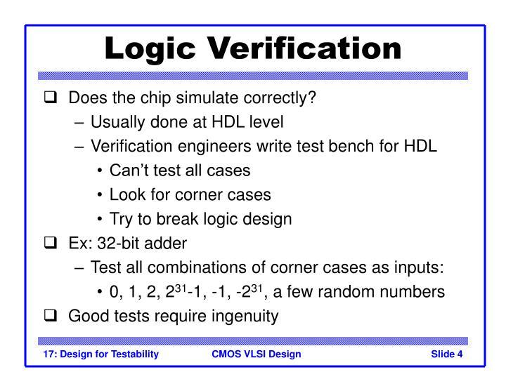 Logic Verification