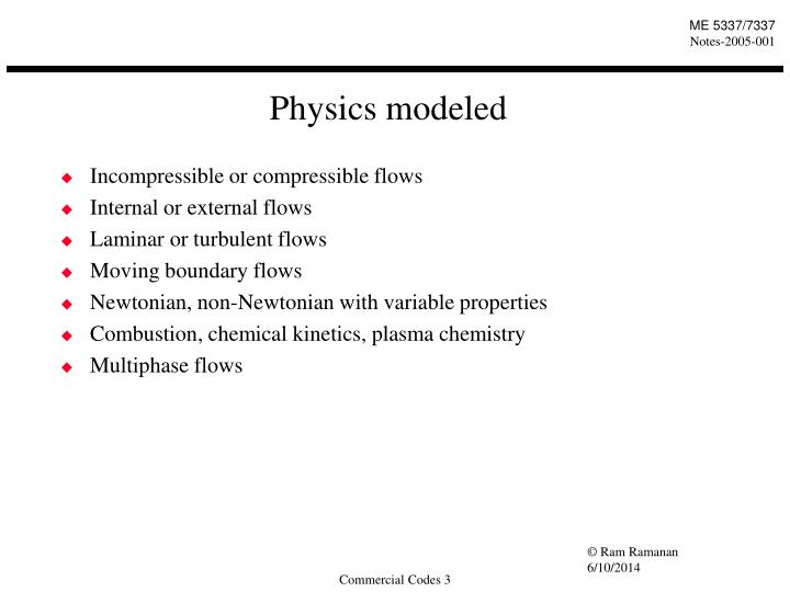 Physics modeled