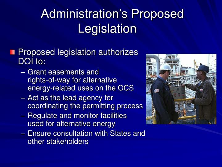 Administration's Proposed Legislation