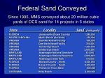 federal sand conveyed