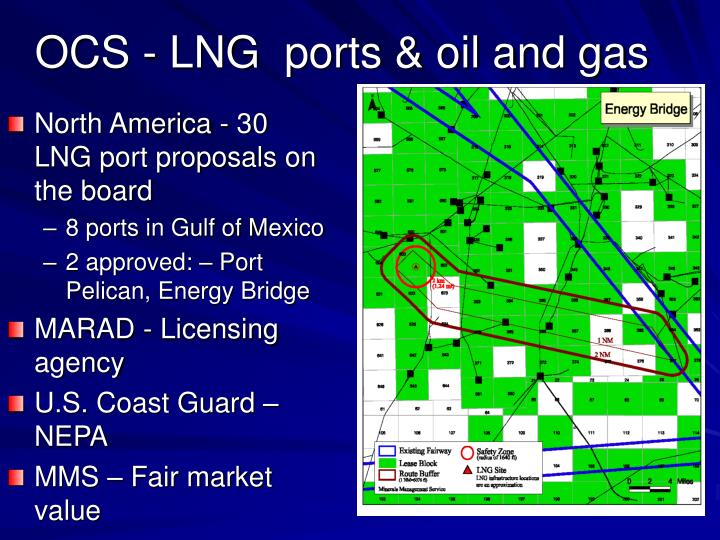 OCS - LNG  ports & oil and gas