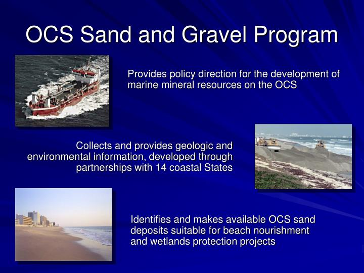 OCS Sand and Gravel Program