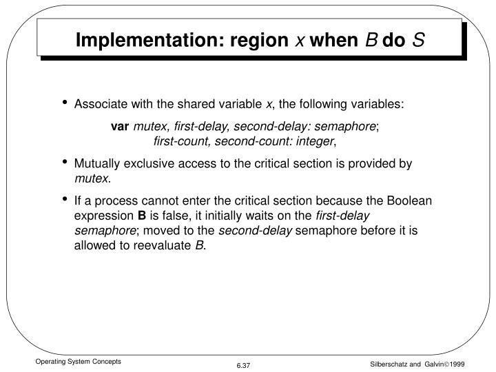 Implementation: region