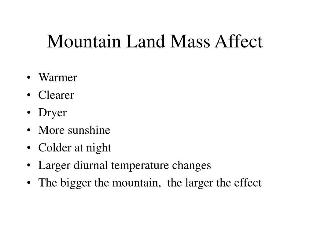 Mountain Land Mass Affect