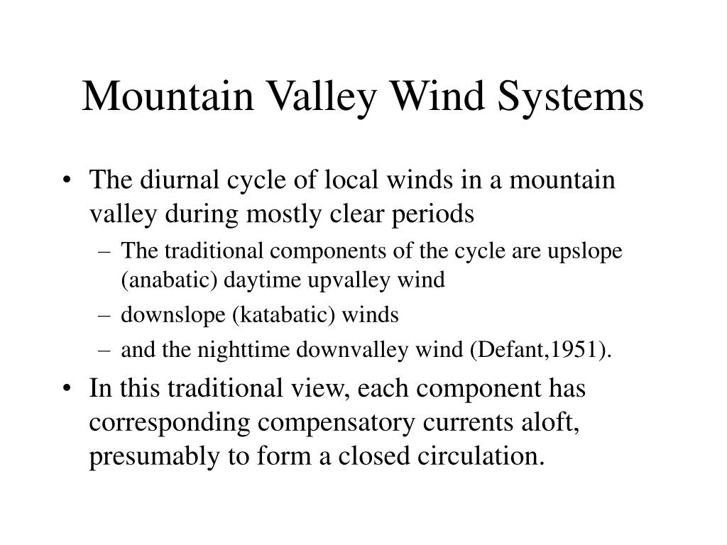 Mountain Valley Wind Systems