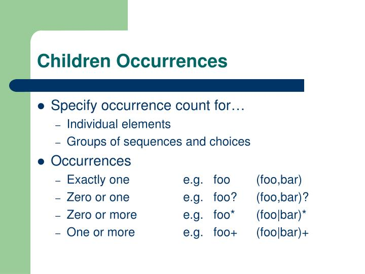 Children Occurrences