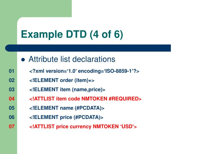 Example DTD (4 of 6)