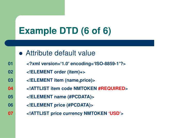 Example DTD (6 of 6)