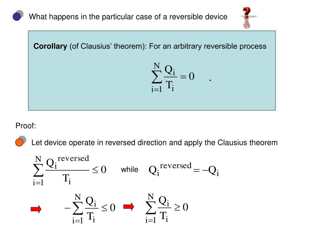 What happens in the particular case of a reversible device
