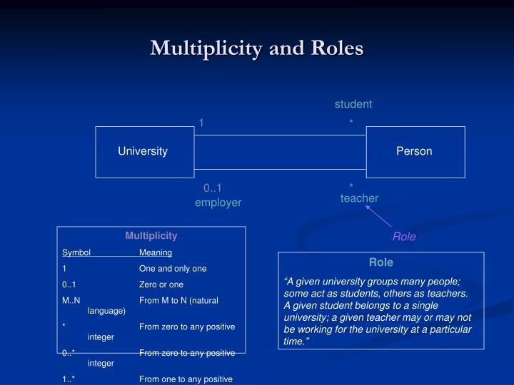 Multiplicity and Roles